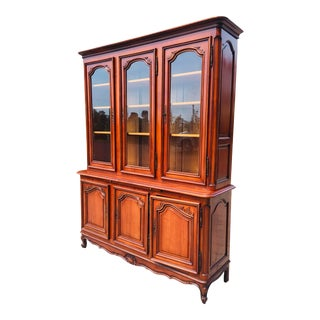 Mid 20th Century French Hand Carved Display Cabinet For Sale