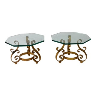 1950s Hollywood Regency Tables - a Pair For Sale
