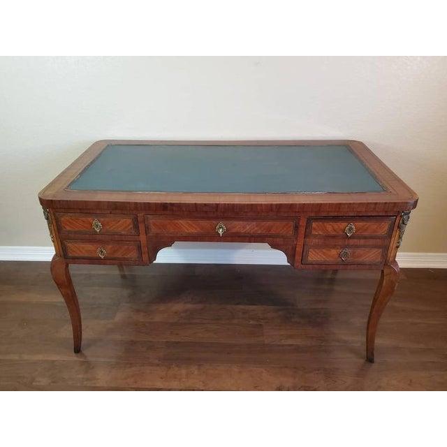 1920s French Louis XVI Bureau Plat Writing Desk For Sale - Image 10 of 13