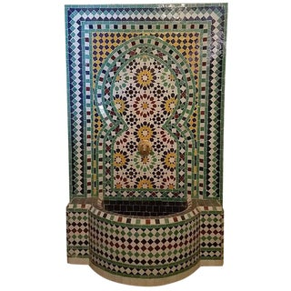 Vintage Beldia Style Moroccan Fountain For Sale