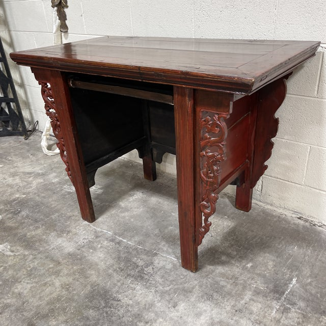 Still working from home in a small space. This is a great little desk in the style of a Chinese alter table with front...