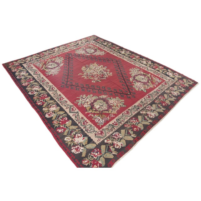 "Anatolia Turkish Kilim Large Rug - 9'6"" X 10'8"" - Image 3 of 10"
