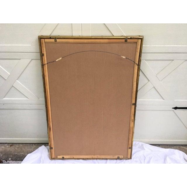 Brass Mastercraft Brass Faux Bamboo Mirror W/Greek Key For Sale - Image 8 of 10