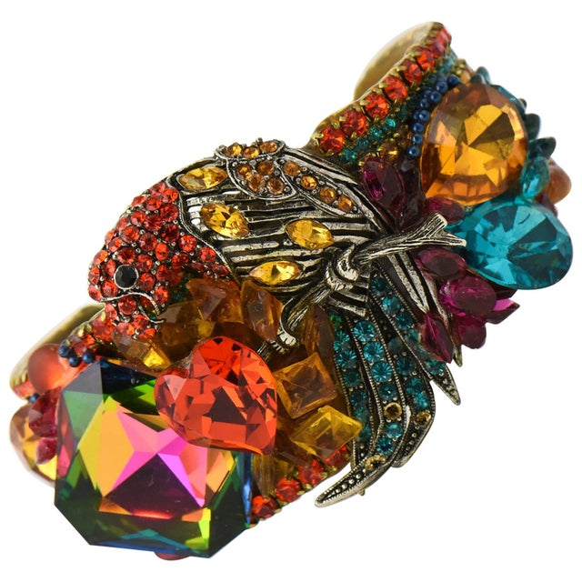 Wendy Gell Parrot Cuff Bracelet For Sale - Image 9 of 9