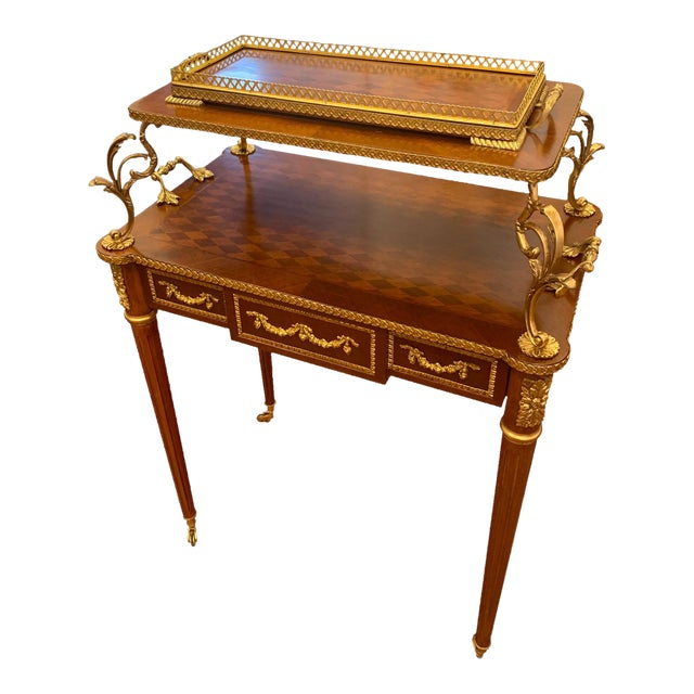 French Louis XVI Rolling Serving Table For Sale