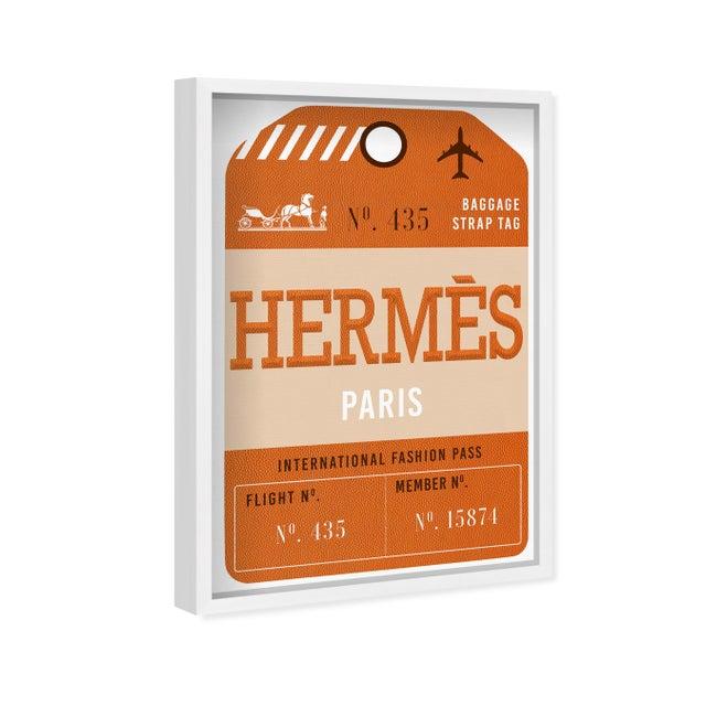 Oliver Gal 'Paris Fashion Luggage Tag' Framed Art For Sale - Image 4 of 7