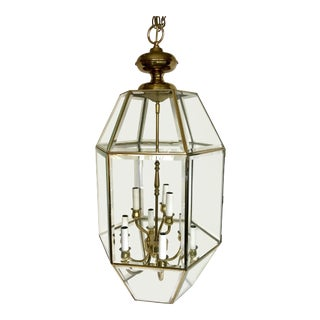1960s Brass Hanging Outdoor Lantern For Sale