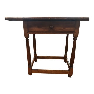 19th Century Traditional Pine Tavern Table For Sale