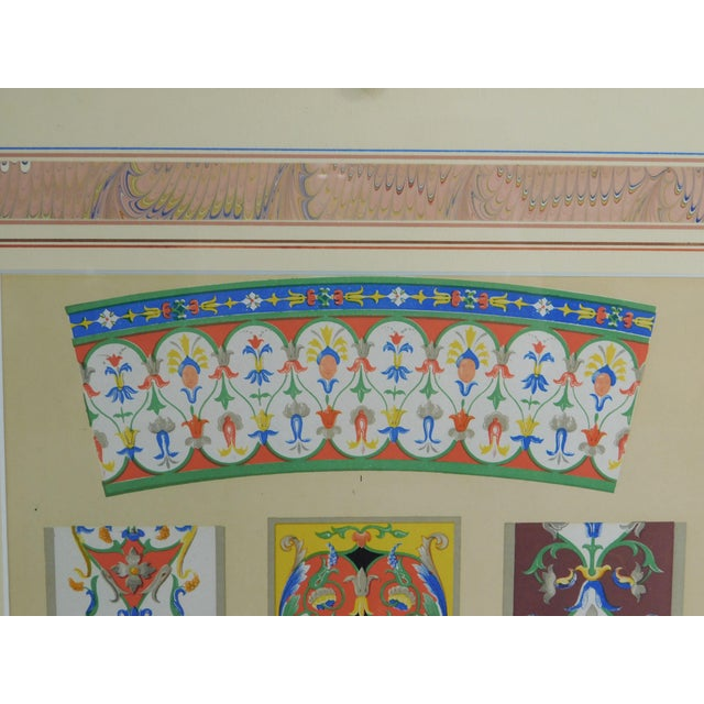 Rococo Gilt Framed Pair of Prints Showing Samples of Decorative Wallpaper Borders For Sale - Image 10 of 13