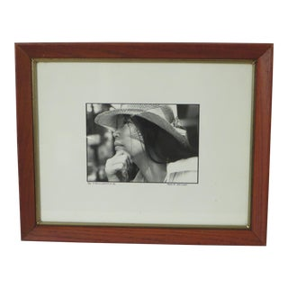Black & White Portrait of a Young Woman, Signed Photography For Sale