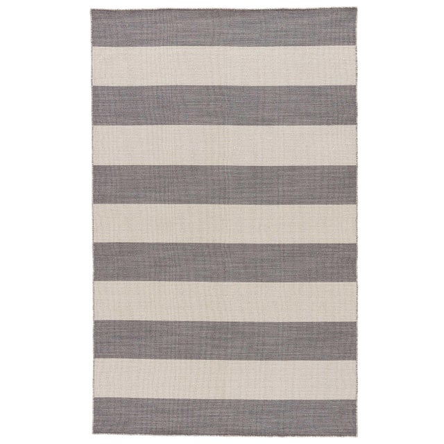 Jaipur Living Tierra Handmade Striped Gray/ White Area Rug - 8′ × 10′ For Sale In Atlanta - Image 6 of 6