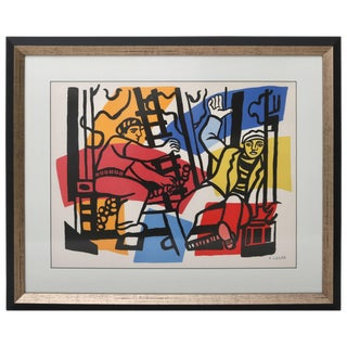 "Lithograph Print, After Fernand Leger, From ""The Construction Worker"" Series For Sale"