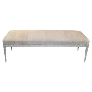 Large Gustavian Painted Bench