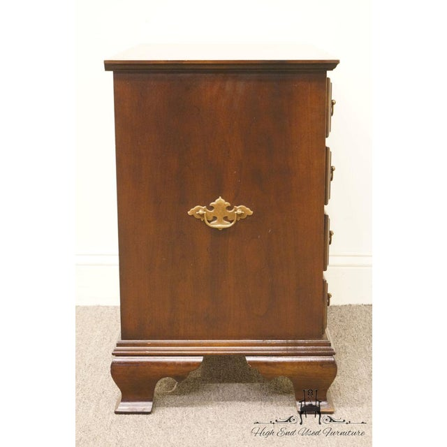 Chippendale Style 4 Drawer Solid Mahogany Accent Chest For Sale - Image 11 of 13
