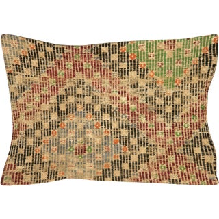 """Nalbandian - 1960s Turkish Jijim Lumbar Pillow - 16"""" X 23"""" For Sale"""