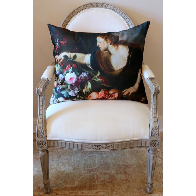 2020s Paris Photo Pillow Italian Painting in the Louvre For Sale - Image 5 of 12