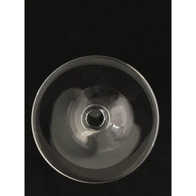 Vintage Etched Crystal Stemware - Set of 9 For Sale - Image 9 of 12