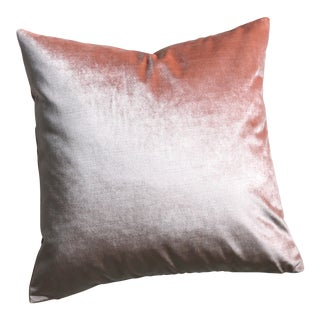 Italian Silk Blush Velvet Pillow
