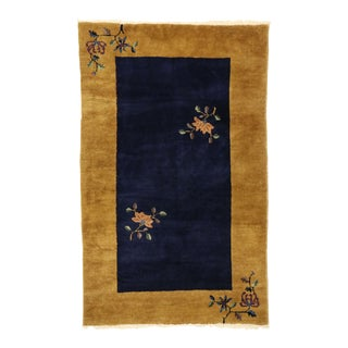 Antique Chinese Art Deco Rug With Qing Dynasty Style - 03'00 X 04'10 For Sale