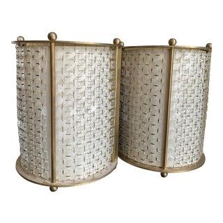 Thomas Pheasant Lantern Sconces - a Pair For Sale