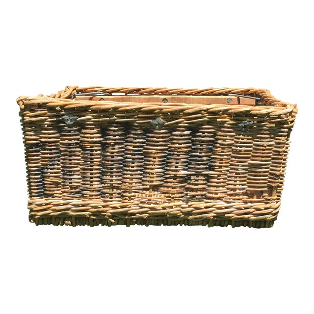 Antique French Champagne Grape Basket For Sale