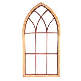 Gothic Cathedral Style Arched Wall Mirror For Sale
