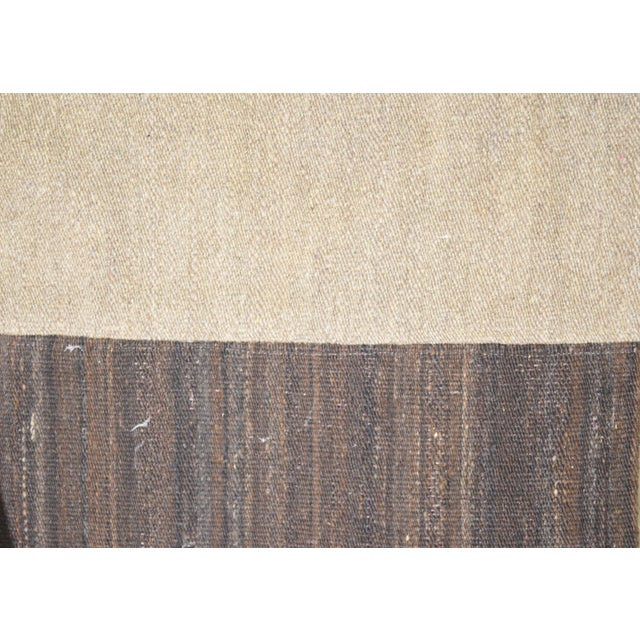 "Shabby Chic Vintage Afghan Hand Made Organic Wool Natural Color Modern Kilim,5'6""x7'11"" For Sale - Image 3 of 5"