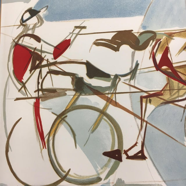 """1960s Vintage """"The Race"""" French Cubist Lithograph by Jacques Ceria Despierre For Sale - Image 4 of 8"""