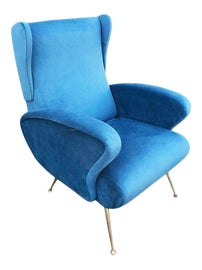 Image of Newly Made Velvet Wingback Chairs