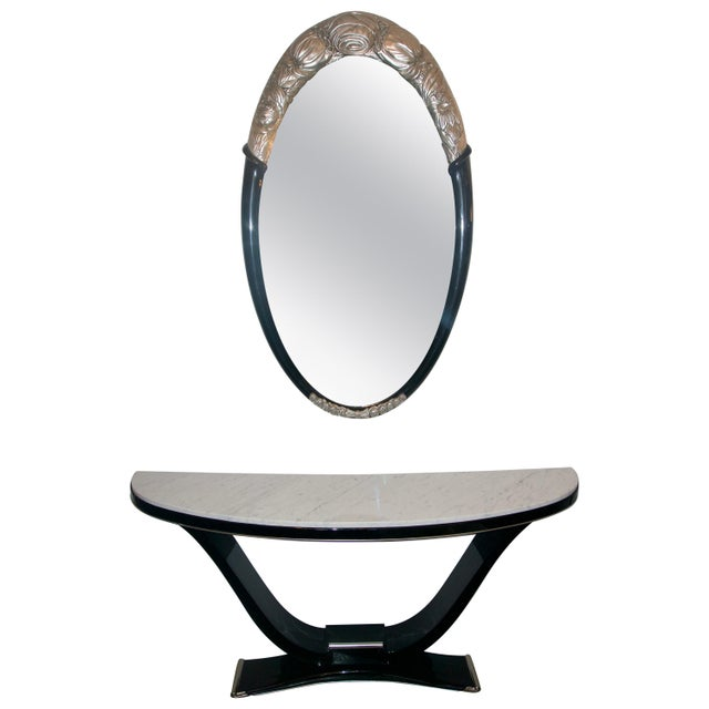 Black and Silver Console and Mirror From South Beach - 2 Pc. Set For Sale - Image 12 of 12