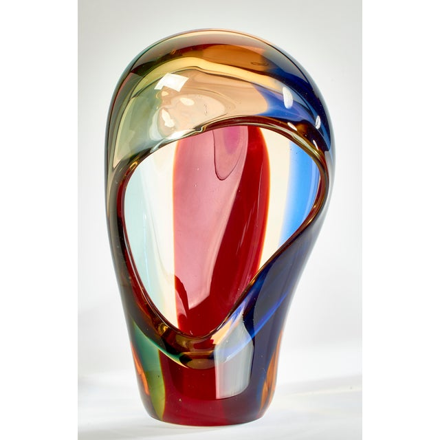 Glass Vintage Multi-Colored Murano Glass Bowl For Sale - Image 7 of 13