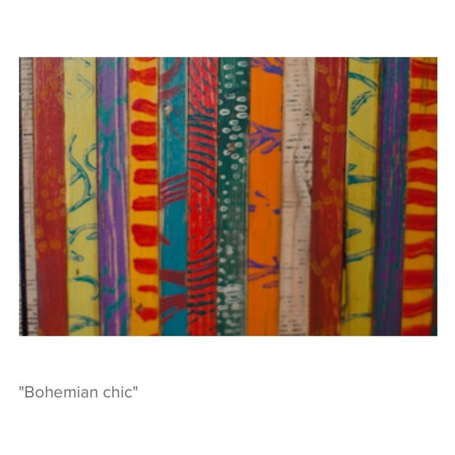 Bohemian Chic Wooden Trunk - Image 3 of 3