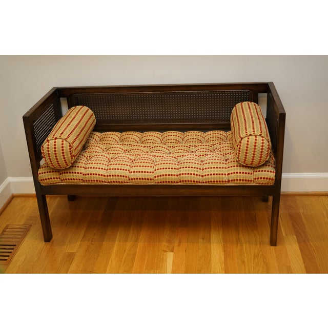 Mid 20th Century Mid-Century Modern Lewitte's Cane Settee For Sale - Image 5 of 11