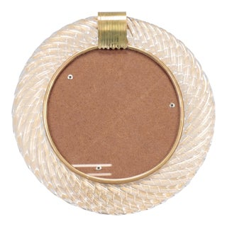 Barovier and Toso Round Glass Picture Frame For Sale