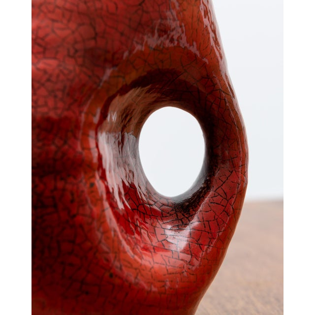 1950s French Red Accolay Pitcher For Sale In Santa Fe - Image 6 of 8