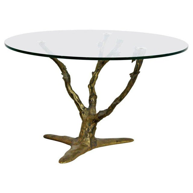 Modern Art Deco Cast Bronze Tree Limb Side End Table For Sale In Detroit - Image 6 of 6