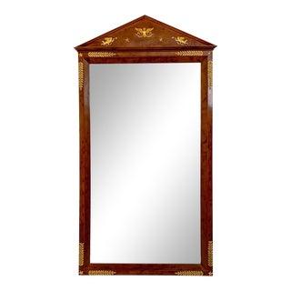 Circa 1810 French Empire Mahogany Mirror For Sale