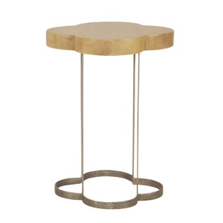 Cloverleaf Walnut Driftwood Top Side Table