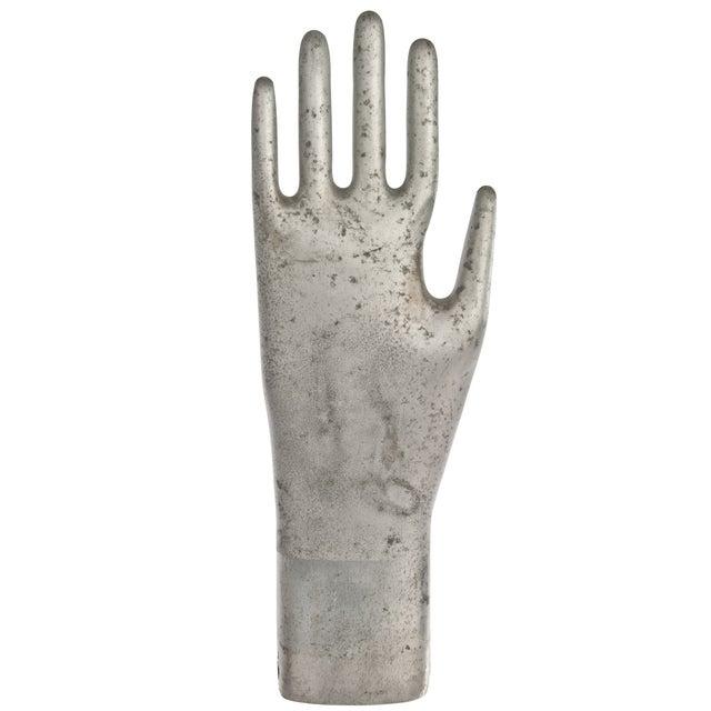 Vintage Aluminum Industrial Glove Mold - Image 1 of 3