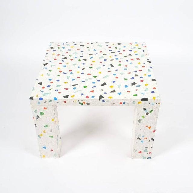 Italian Shiro Kuramata Nara Terrazzo Side Table For Sale - Image 3 of 5