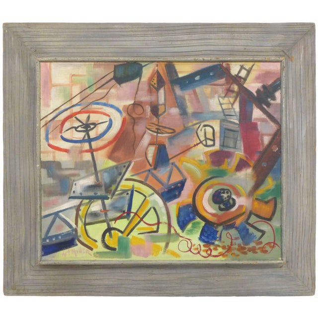 1940s 1940s Abstract Painting by Art Miller For Sale - Image 5 of 5