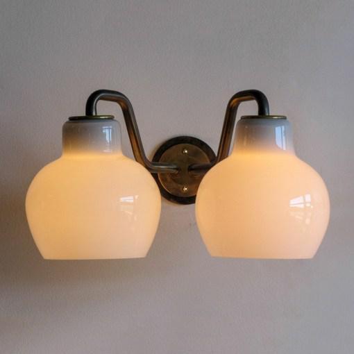 Brass Vilhelm Lauritzen Double Wall Lights For Sale - Image 7 of 10