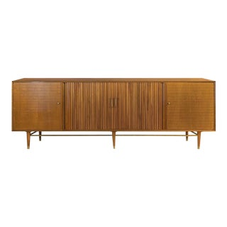Robert Feller Mark Furst Furnette Mid-Century Modern Tambour Door Credenza For Sale