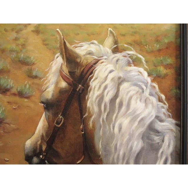 "Ute Simon ""Desert Trail"" Horse Painting - Image 3 of 7"