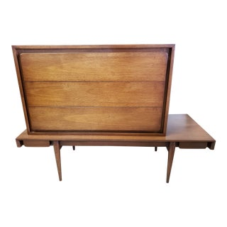 Red Lion Walnut Mid Century Modern Modular Dressing Table For Sale