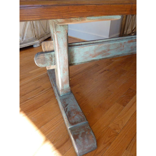 19th Century Scandinavian Trestle Table For Sale - Image 4 of 8