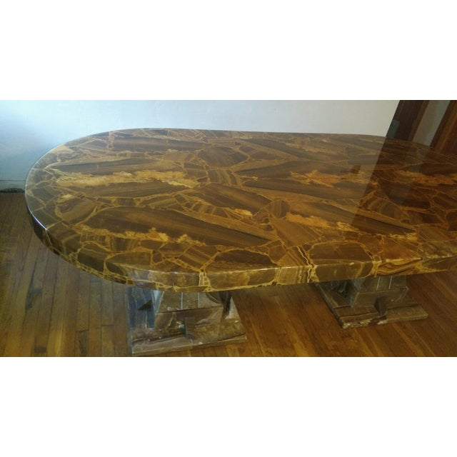 Muller of Mexico Mid Century Muller of Mexico Onyx Dining Table For Sale - Image 4 of 10