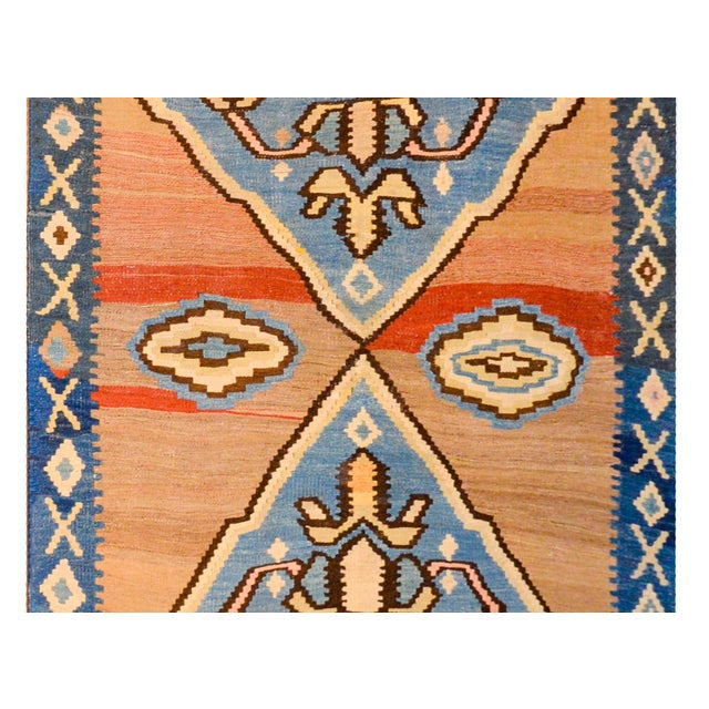 Bold Early 20th Century Azari Kilim Runner For Sale - Image 4 of 9