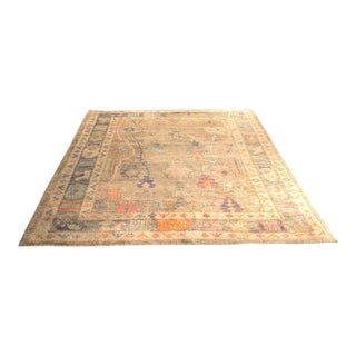 'Sezen' Modern Heirloom Turkish Oushak - 5′8″ × 7′7″ For Sale