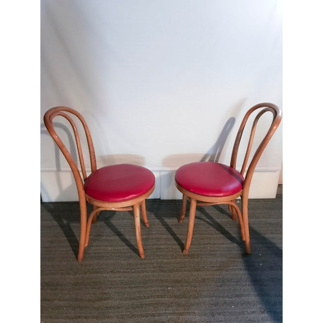 Thonet Style Bentwood Upholstered Chairs - a Pair - Image 6 of 9